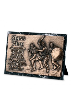 STAND FIRM RECTANGLE PLAQUE SCULPTURE