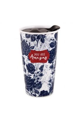 Tumbler Mug Ceramic Pretty Prints You Are Amazing