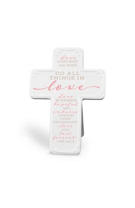 Cross Ceramic Scripture Blessings Love