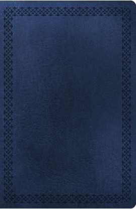 NKJV Large Print UltraSlim Reference Bible Classic Series 6153RN Thumb Index Rich Navy Leathersoft