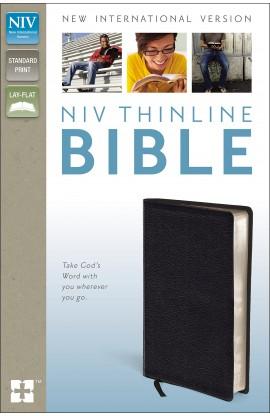 NIV Thinline Bible Black Bonded Leather