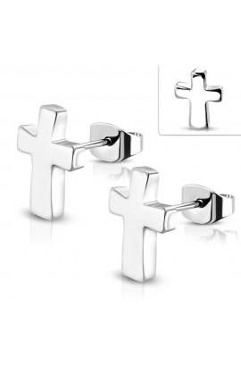 ZEM099 ST Latin Cross Stud Earrings