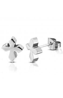 JES246 ST Medieval Cross Stud Earrings