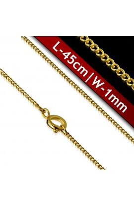 CNE199 Gold Plated ST Spring Ring Clasp Lock Link Chain