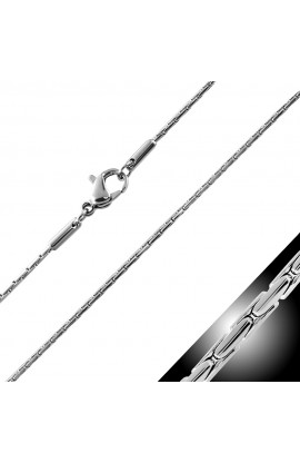 CLH240 ST Lobster Claw Clasp Fancy Oval Link Chain