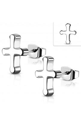 JES383 ST Medieval Cross Stud Earrings