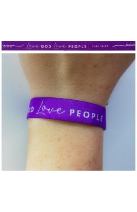 Love God Purple AYAT New Tie Band 30 cm