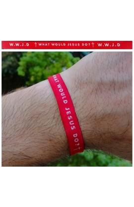 WWJD Red AYAT New Tie Band 30 cm