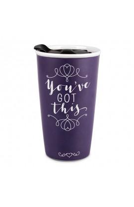 Tumbler Mug Double Wall Ceramic Affirmed You've Got This
