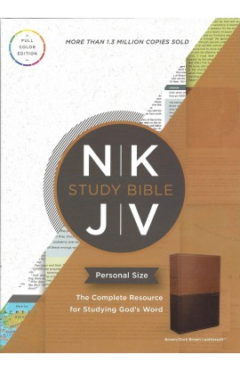 The NKJV Personal Size Study Bible Brown Imitation leather