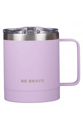 Mug SSteel Camp Purple Be Brave
