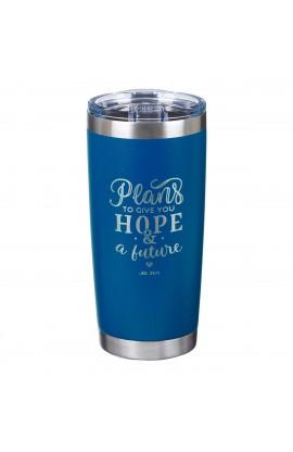 Mug SSteel Travel Navy Plans for Hope & a Future Jer 29:11