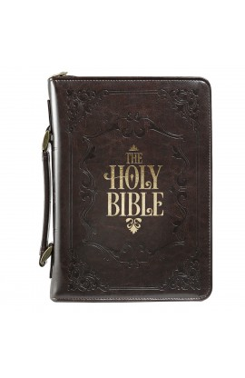 Holy Bible Bible Cover in Brown Medium