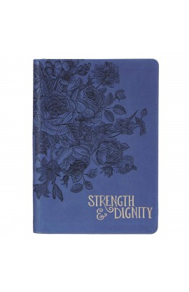 Journal Classic Zip Navy Strength & Dignity