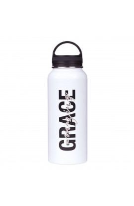 Water Bottle SSTeel Amazing Grace White