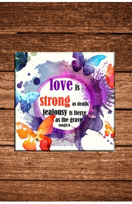 LOVE IS STRONG COASTER