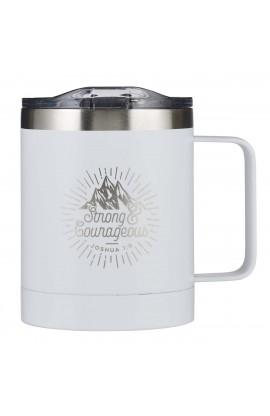 Mug SSteel Travel Strong & Courageous