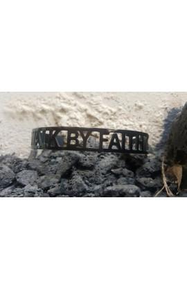 WALK BY FAITH BLACK BANGLE