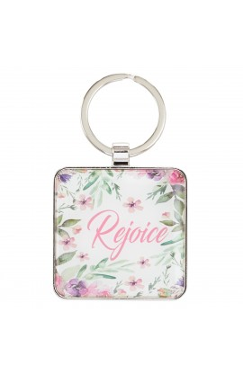 Keyring Metal Rejoice in the Lord