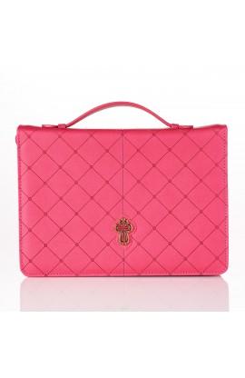 BC LL Cross Badge Grace Zipper Pink Lg