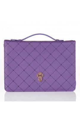 BC LL Cross Badge Grace Zipper Purple Lg